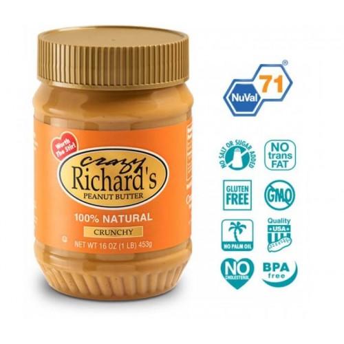 Арахисовое масло Crazy Richard's Crunchy Natural, 454 грамм
