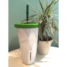 Стакан Starbucks Cold Cup Steel Faceted White 473 мл (11038092)