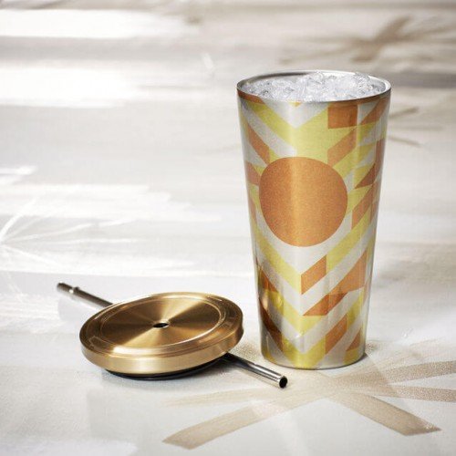Термокружка Starbucks Cold Cup Gold Chevron 473 мл (11041197)