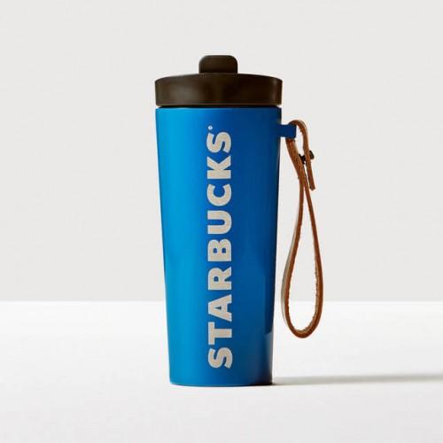 Термокружка Starbucks Leather Handle Blue 473 мл (11060736)