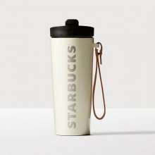 Термокружка Starbucks Leather Handle Cream 473 мл (11060737)