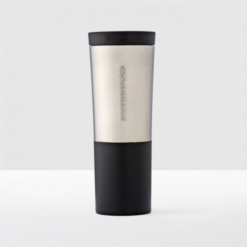Тамблер STARBUCKS Brushed Silver & Black 591 мл (11063524)