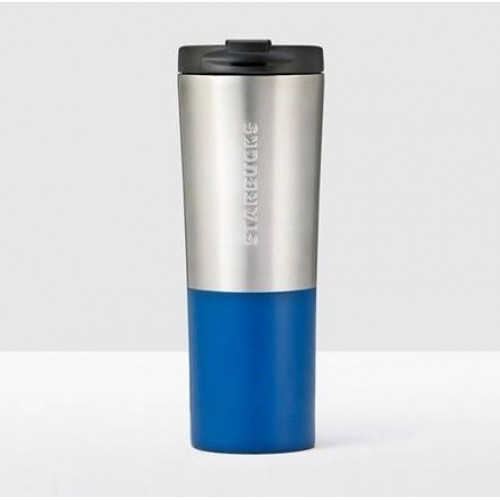 Тамблер STARBUCKS Brushed Silver & Blue 591 мл (11073531)