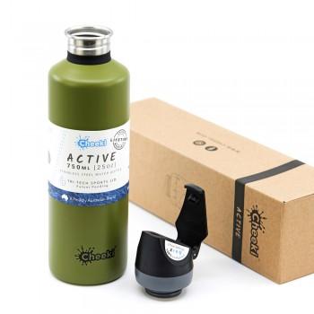 Спортивная бутылка для воды Cheeki Single Wall Active Bottle Khaki 750 мл (ASB750KA1)